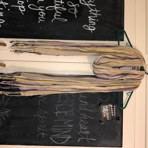 Striped scarves with fringed ends!